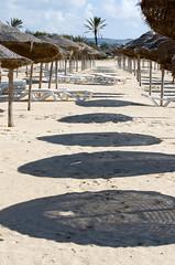 OOOooo (Patrick Costello) Tags: beach hotel shadows tunisia umbrellas hammamet nabeul riupalace
