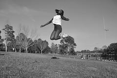 The Jump (faungg's photos) Tags: park people blackandwhite bw usa girl mobile fun us al high jump alabama 黑白 女孩 人像 跳跃