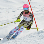 Catherine CARRUTHERS of BC takes 7th Place in the U14 Girls Slalom Race held on Whistler Mountain on April 6th, 2014. Photo by Scott Brammer - coastphoto.com