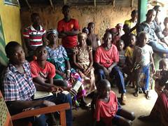 Radio listeners in Sierra Leone
