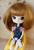 Tea and cat (gwennan) Tags: color macro cute colors japan closeup toy doll dal figure junplanning jfigure rotchan