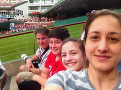 Family at Ballpark (Stephen J Pollard (Loud Music Lover of Nature)) Tags: family gabi ian stephen chemagne