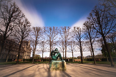 THANKS (Rober1000x) Tags: longexposure winter light sculpture paris clouds garden europa europe louvre tuileries 2014 îledelacité isladefrancia