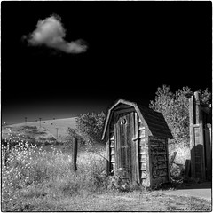 "Outhouse in the Town of Harmony (James A. Crawford - ""Crawf"") Tags: california wallpaper blackandwhite bw usa white abstract black art photoshop canon blackwhite creative textures harmony canoneos hdr blackdiamond digitalphotography edges sanluisobispocounty autofocus vpu greatphotographers creativephotography blackwhitephotos cs5 efex niksoftware creativedigitalphotography flickraward tonalcontrast blackandwhiteonly creativepostprocessing gnneniyisithebestofday colorefexpro3 viveza2 ringexcellence silverefexpro2 colorefexpro4 imageborders photomatix503"