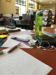 Studying at Barnes and Nobles for Calculus 2 (aafable) Tags: school college books bookshelf starbucks math magazines calculus studying