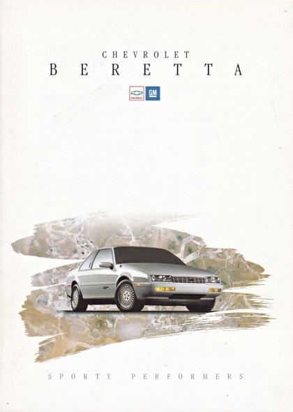 auto cars chevrolet car voiture 1993 vehicle brochure fahrzeug beretta folleto prospekt carbrochure opuscolo brochura chevroletberetta broschyr autobrochure gm1993