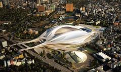 Обновленный проект Олимпийского стадиона в Токио от  Zaha Hadid Architects