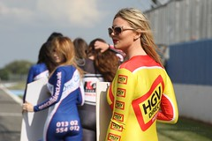 Truck Racing Grid Girl (hockeyshooter) Tags: england leicestershire leicester spandex lycra catsuit motorsport gbr