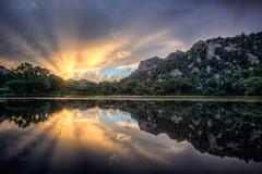 Granite-Basin-Lake-17565_6_7_8_9_tonemapped (Michael-Wilson) Tags: sunset arizona lake reflection sunrise az prescott granitemountain michaelwilson granitebasinlake