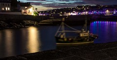 Blured sails (cameronmathiesen1) Tags: motionblur boat docks sea water cornwall porthleven boats bluryboats canon canon1100d longexposure nighttimeshots
