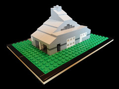 LEGO Vanna Venturi House - Rear 2 (keoarchitect) Tags: building architect postmodern complexityandcontradiction postmodernism pennsylvania house mothershouse vsba chestnuthill philadelphia legoarchitecture venturiscottbrownandassociates robertventuri lego legoideas legomoc venturi architecture