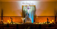 Liturgical Environment (ovolo_interiors) Tags: liturgicalenvironment liturgicalyear worshipspace prayerroom placeofprayer ordinarytime autumndecor candles lights tabernacle cross