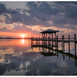 Boathouse on the Indian River Lagoon. thumbnail