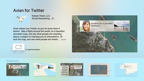 Avian for Twitter on AppleTV by Wesley Fryer, on Flickr