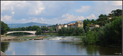 Florencia (Italia, 30-6-2009) (Juanje Orío) Tags: italia florencia 2009 río puente azud patrimoniodelahumanidad whl0174 worldheritage reflejo toscana arno