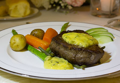 Filet Mignon with Bearnaise Sauce (WOW Philippines Travel Agency) Tags: wedding bride groom flowers roses bouquet food weddingfood cake philippines filet mignon bearnaise sauce ravioli duck liver smoked salmon parmesan cutting display pink icing table party setup rings beautiful cream artichoke soup canonigo mango balls
