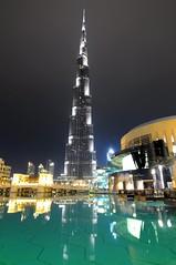 Majestic Burj Khalifa (Trim Reaper) Tags: dubai nikon burjkhalifa burj khalifa nurjkhalifa reflections longexposure nighshot citycapes skyscrapers building tokina 1116mm uwa