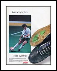 "Mitre, 1991 (Cosmo's ""ART"" Gallery) Tags: ad soccer sportinggoods shoes 1991 mitre tatu dallassidekicks indoorsoccer"