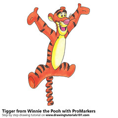 Tigger from Winnie the Pooh with ProMarkers (drawingtutorials101.com) Tags: tigger winnie pooh cartoons cartoon movies disney promarkers alcohol markers promarker marker color coloring draw drawing drawings sketch sketches sketching timelapse video speeddrawing