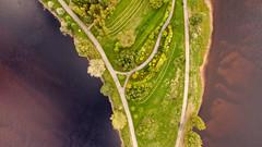 Sandgrundsudden (2) (krissen) Tags: dji djiinspire1 inspire drone karlstad sweden värmland sandgrundsudden park water vatten trees aerial