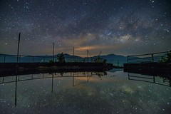 清境農場~銀河映像~ Milkyway reflection (Shang-fu Dai) Tags: 台灣 taiwan 南投 nikon d610 sky landscape formosa galaxy 銀河 星空 tokinadx1116mmf28 milkyway 清境農場 夜景 倒影 reflection