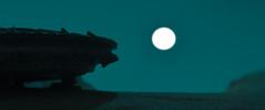 the flying hamburger (preliminary version) (jooka5000) Tags: starwars toyphotography thisisatoy photography desert millenniumfalcon flying hamburger toys jooka5000 j5k frame cinematic scope ratio silhouette moonlight moon minimalism creativity imagination freshness