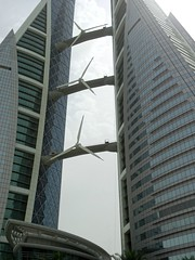 Bahrain World Trade Center 💰 (Eng.Abed91) Tags: evening camera love olympus sigma architecture art tower bahrain