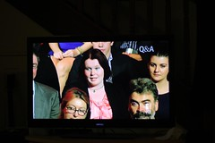 Kelly in the Q&A audience (ABC Open Sunshine Coast) Tags: audience question clivepalmer kellybutterworthqa jordankoster