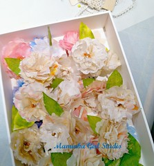 paper flowers (maminkagirl) Tags: wedding vintage paper handmade favor topper