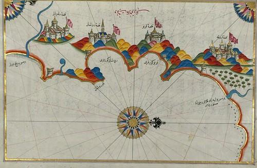 Calabria orientale - da una carta dell'ammiraglio turco Piri Reis