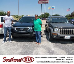 Southwest Kia of Dallas would like to wish a Happy Anniversary to Timica Patterson on your 2013 Kia Sorento (Southwest Kia Dallas) Tags: new southwest car sedan truck wagon happy dallas texas tx used vehicles mesquite bday dfw kia van suv coupe rockwall dealership hatchback dealer customers minvan 4dr metroplex shouts 2dr preowned