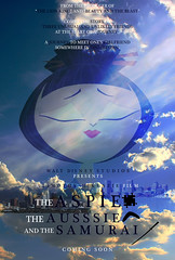 The Aspie, The Aussie, and The Samurai poster design (timbox129) Tags: california film movie poster idea design maryland journey hollywood empress samurai annapolis aussie quest autism cartoonnetwork samuraijack genndytartakovsky aspergerssyndrome aspie