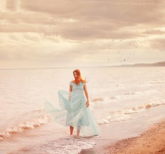 (Jessica Lutz Photography) Tags: ocean sea portrait lake selfportrait vintage model dress wind modeling gown londo selfie jessicalutz jessicalutzphotography