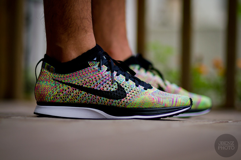 huge selection of 206be cd3ea WDYWT   Nike Flyknit Racer - Multi Colored (JBenzPhoto) Tags  color nike  multi