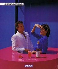 Campari (1984) Was sonst. (H2O74) Tags: pink blue boy orange woman man girl rose azul bar ads advertising was couple publicidad drink blu ad paar advertisement anncio cocktail 80s ontherocks 1984 advert mann blau frau cocktails werbung macho alkohol publicit reklame advertisment 80er sonst publicitario adverts anzeige aperitif getrnk theke rosado camparisoda  likr gaspare anzeigen campariorange verabredung aperetif werbungen reklamen capari camparitonic