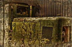 Train Decay (Sh4un65_Artistry) Tags: train diffusion dereliction textured topaz industrialdecay backtonature texturedbackground kidwellyindustrialmuseum welshindustry texturedphotograph