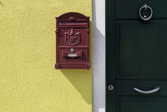 Send and receive.. (areyarey) Tags: street door venice red italy house color yellow metal wall mailbox vintage handle design italian iron italia colours message post mail symbol box lock entrance email retro stamp communication collection mounted send letter postbox delivery venetian postal letterbox package venecia address postage doorhandle doorknocker correspondence postalservice deliver mailing gren atthedoor delivered areyarey homeentrance frontfoor