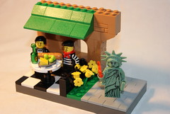 The Statue of Liberty Returns to France. (carnigee77) Tags: lego postcard contest cmf
