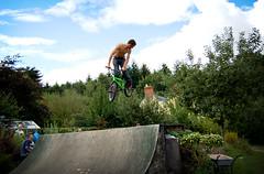 Baz 360 the jump box at Tims Backyard Ramps