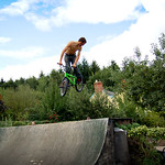 Baz 360 the jump box at Tims Backyard Ramps