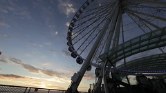 Seattle Great Wheel Sunset Timelapse (Dennis Valente) Tags: seattle sunset usa pier washington timelapse waterfront ferriswheel pugetsound elliotbay superwideangle greatwheel 2013