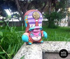 LeviaTTan (WuzOne) Tags: colors painting toy design diy handmade vinyl kidrobot custom commission acrylics dunny adfunture teddytroop munny teddytrooper artoy flyingförtress wuzone leviattan