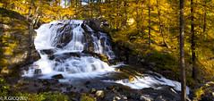 Waterfalls of Foncouverte (renan4) Tags: montagne alpes automne landscape gold nikon valloire d800 nvache mlzes renan4 renangicquel valledelaclave