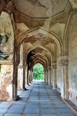 Qutb Shahi Tombs - The corridor around Abdullah Qutb Shah's tomb (siddharthx) Tags: architecture construction ancient hyderabad tombs golconda mausoleums qutbshahi bhagyanagar 1580ad 1687ad