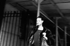 girl wearing mink (omoo) Tags: newyorkcity bw woman blur girl fur blurry westvillage streetscene furcoat rush mink scaffold quick greenwichvillage beautifulgirl minkcoat bwphotograph wearingfur dscn2340 beautifulgirlwearingminkcoat girlwearingmink wearingmink