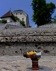 Carried to the top (In my hands they crumble) Tags: arthur lego annabelle steps july slovenia bled minifigs 19th carried lakebled minifigures bledisland 2013 radovljica churchofassumption