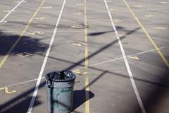 Standardized Testing (Jed Sullivan) Tags: oakland education numbers garbagecan trashcan asphalt fairness