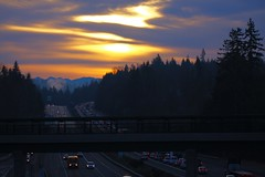 IMG_8264 (adameros) Tags: cars clouds sunrise traffic freeway i405 bothell millcreek snohomish
