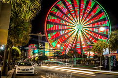 Long Exposure Ferris Wheel (Tyrikus Cunningham Photography) Tags: longexposure beach canon myrtlebeach timelapse strip bmw ferriswheel dope lighttrail
