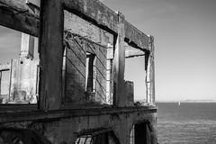 Alcatraz (Victoria Lubach) Tags: sanfrancisco blackandwhite abandoned shadows alcatraz leadinglines chasinglight